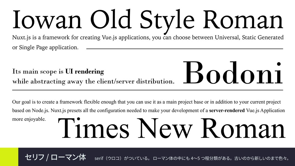 Bodoni Its main scope is UI rendering while abs...