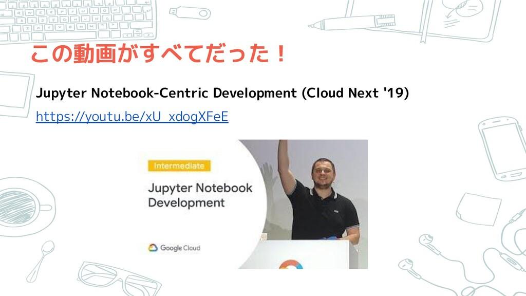 この動画がすべてだった! Jupyter Notebook-Centric Developme...