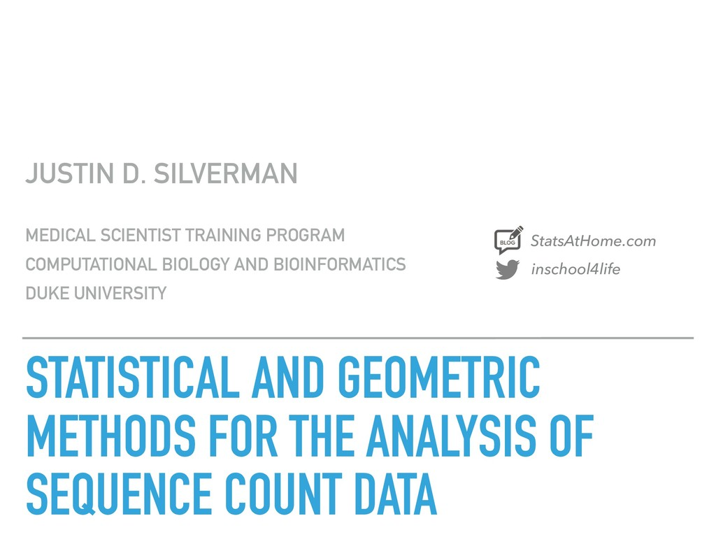 STATISTICAL AND GEOMETRIC METHODS FOR THE ANALY...