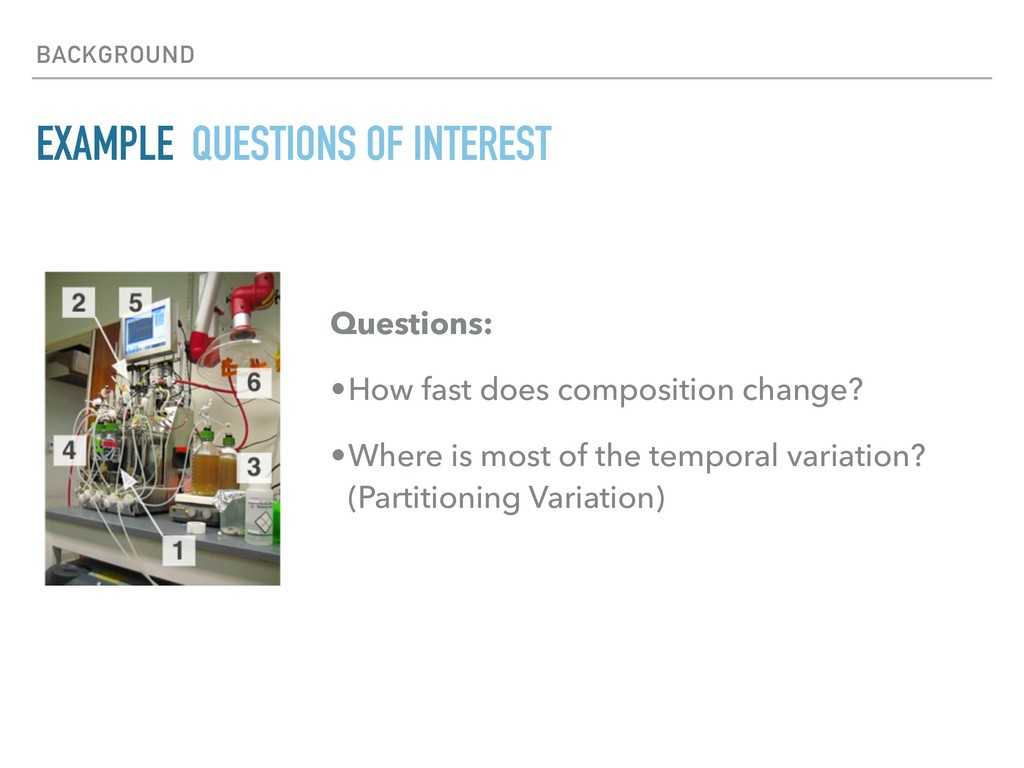 BACKGROUND EXAMPLE QUESTIONS OF INTEREST Questi...