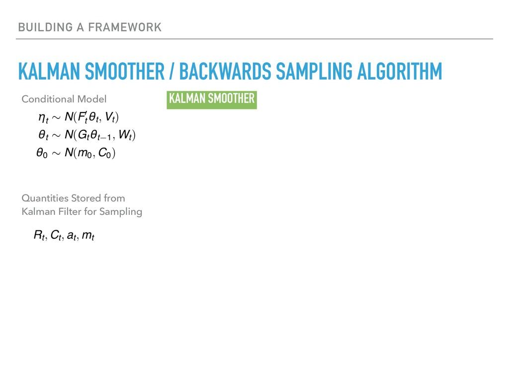BUILDING A FRAMEWORK KALMAN SMOOTHER / BACKWARD...