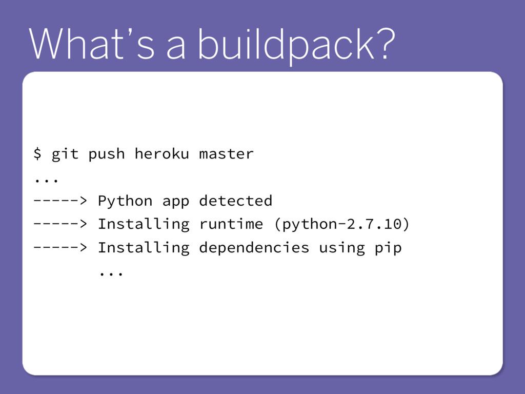 $ git push heroku master ... -----> Python app ...