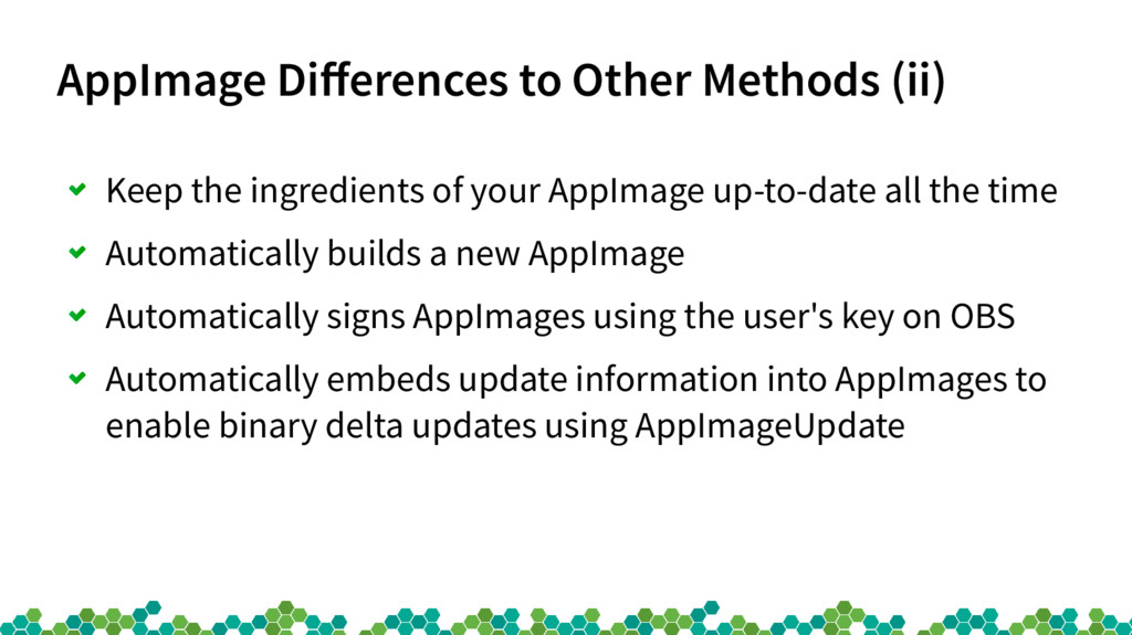 AppImage Differences to Other Methods (ii) Keep...