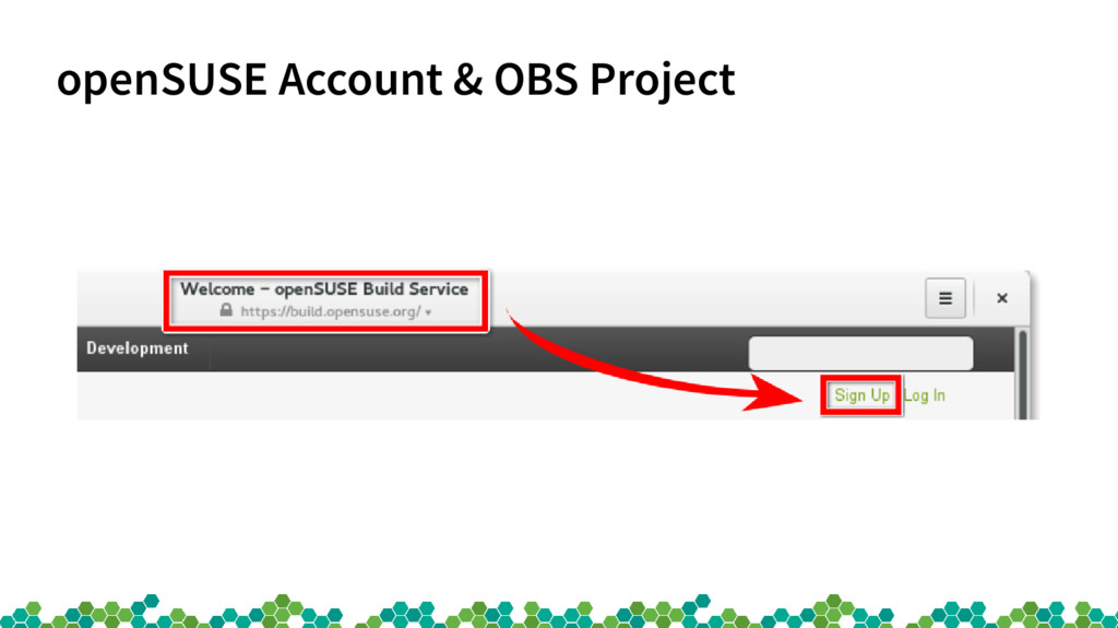 openSUSE Account & OBS Project