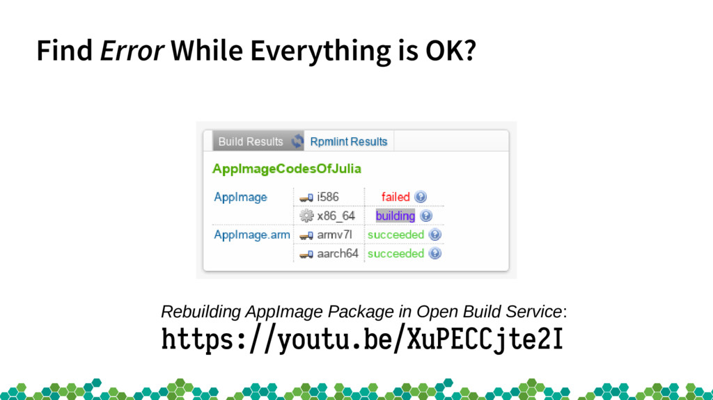 Find Error While Everything is OK? Rebuilding A...