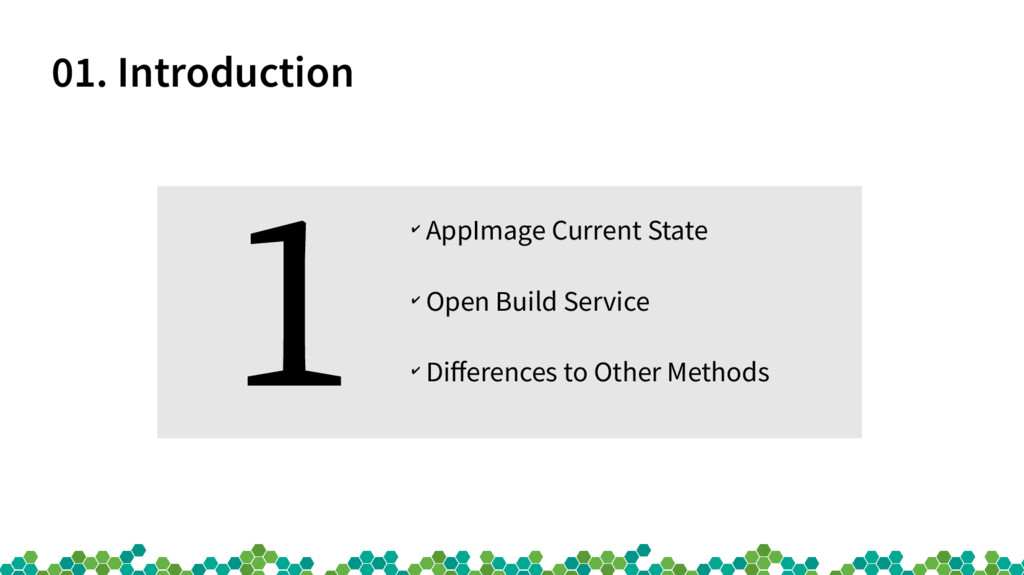 01. Introduction ✔ AppImage Current State ✔ Ope...