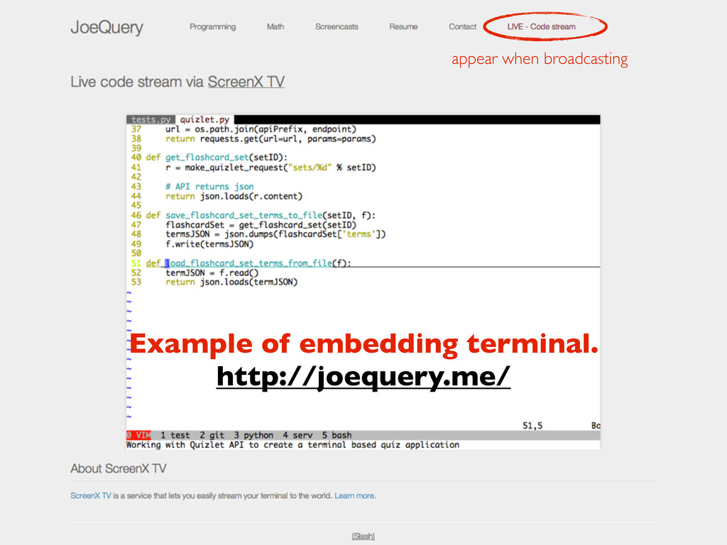 appear when broadcasting Example of embedding t...