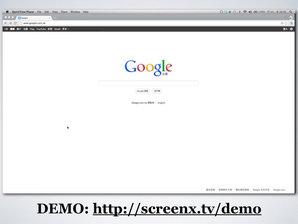 DEMO: http://screenx.tv/demo