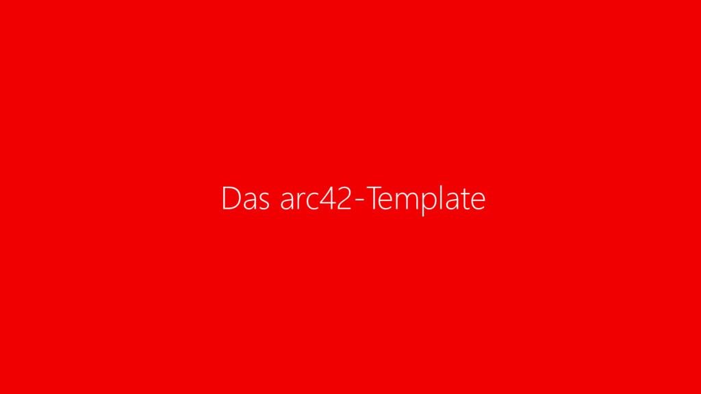 Das arc42-Template