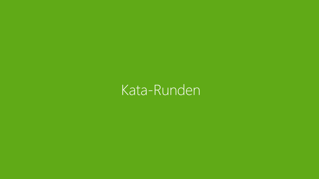 Kata-Runden