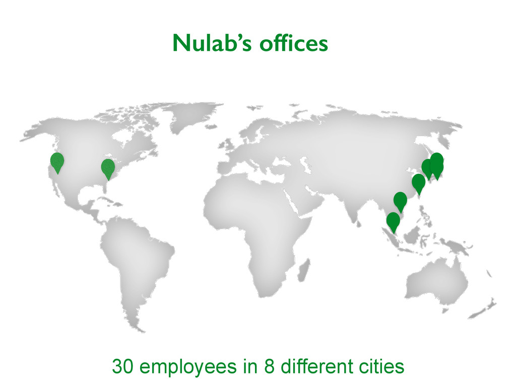 Nulab's offices 30 employees in 8 different citi...