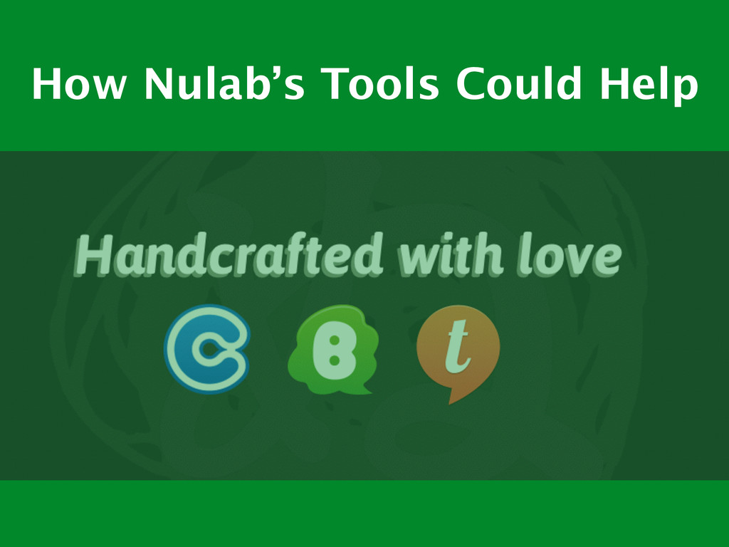 How Nulab's Tools Could Help