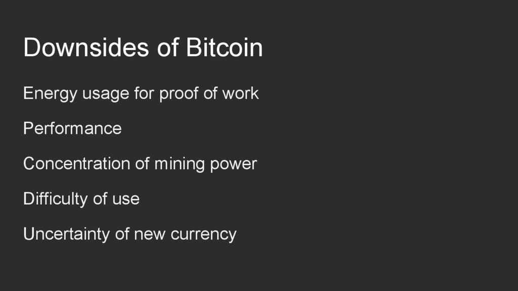 Downsides of Bitcoin Energy usage for proof of ...