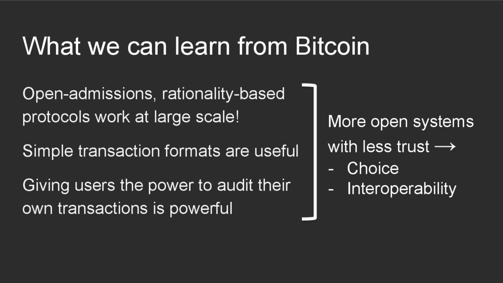 What we can learn from Bitcoin Open-admissions,...