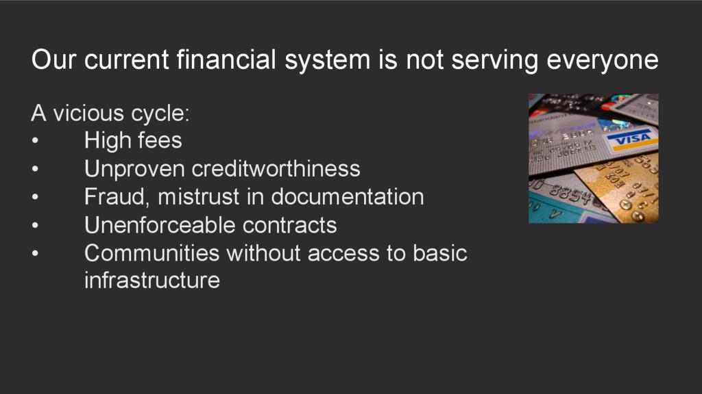 A vicious cycle: • High fees • Unproven credi...