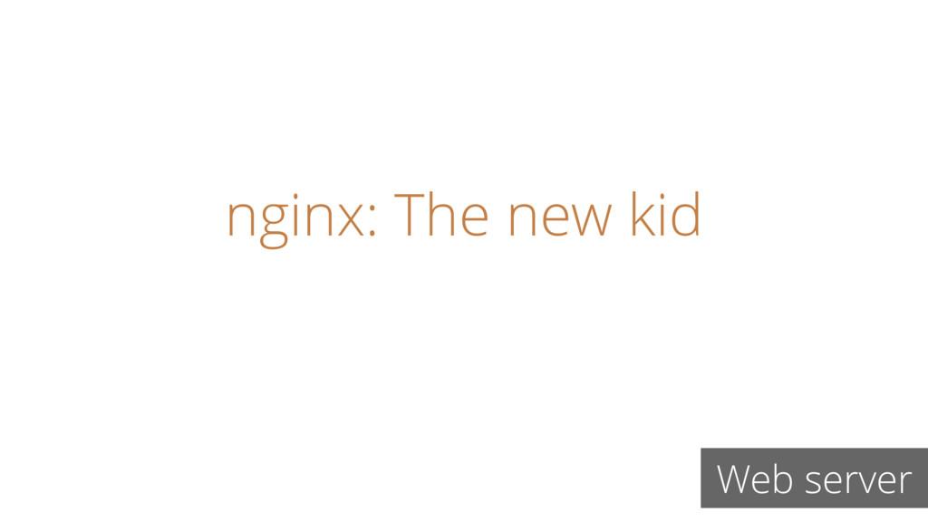 nginx: The new kid Web server