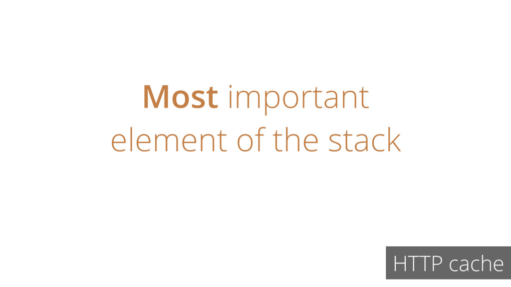 Most important element of the stack HTTP cache