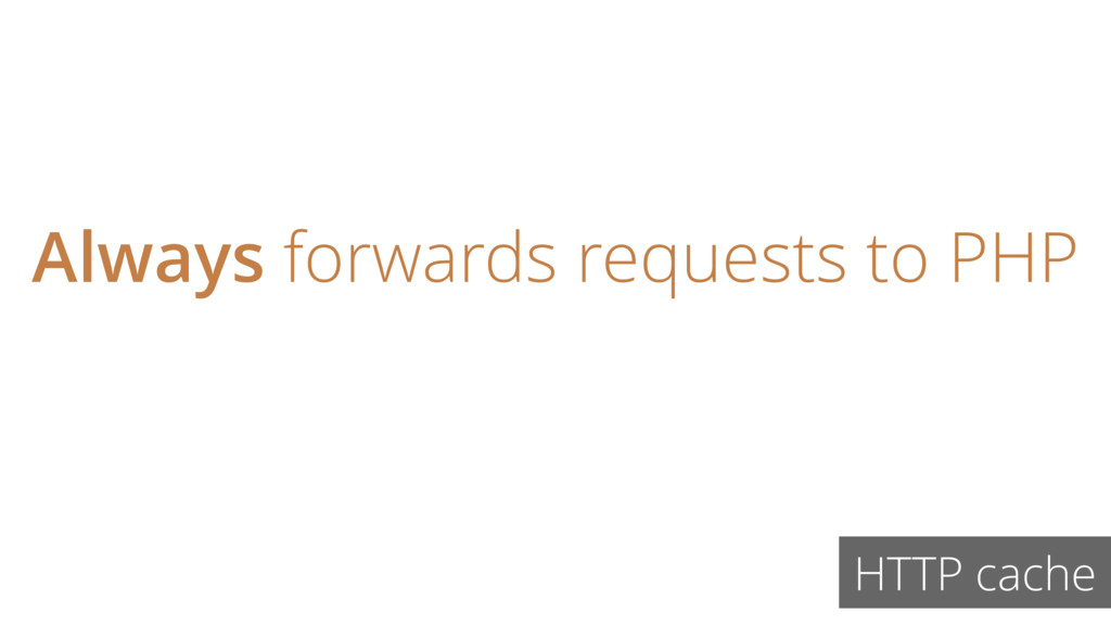 Always forwards requests to PHP HTTP cache