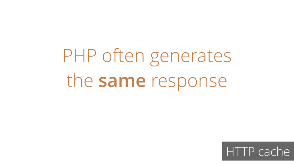 PHP often generates the same response HTTP cache