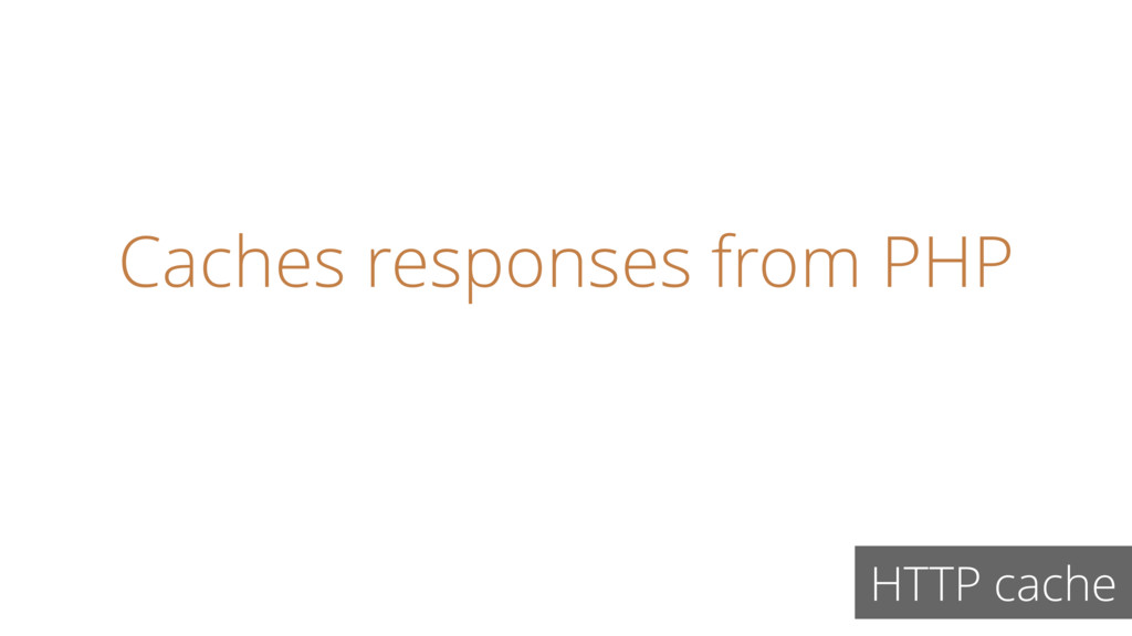 Caches responses from PHP HTTP cache