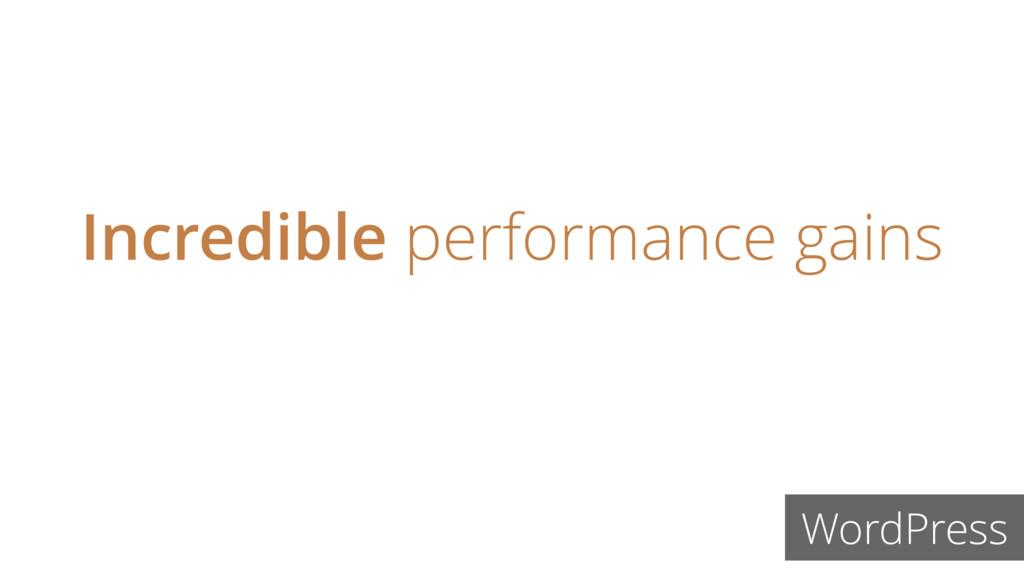 Incredible performance gains WordPress