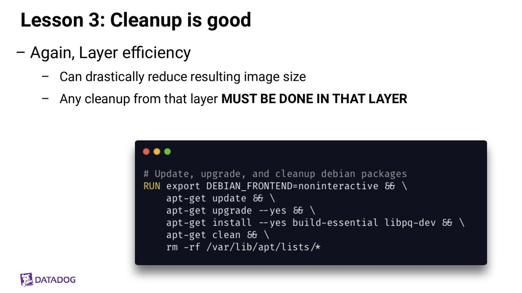 Lesson 3: Cleanup is good – Again, Layer efficien...