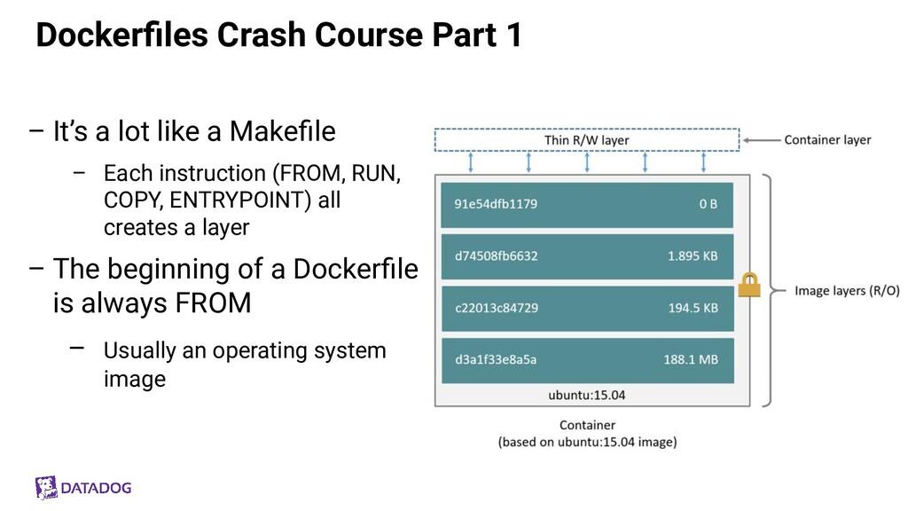 Dockerfiles Crash Course Part 1 – It's a lot lik...