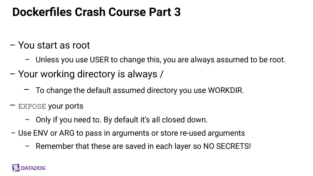 Dockerfiles Crash Course Part 3 – You start as r...