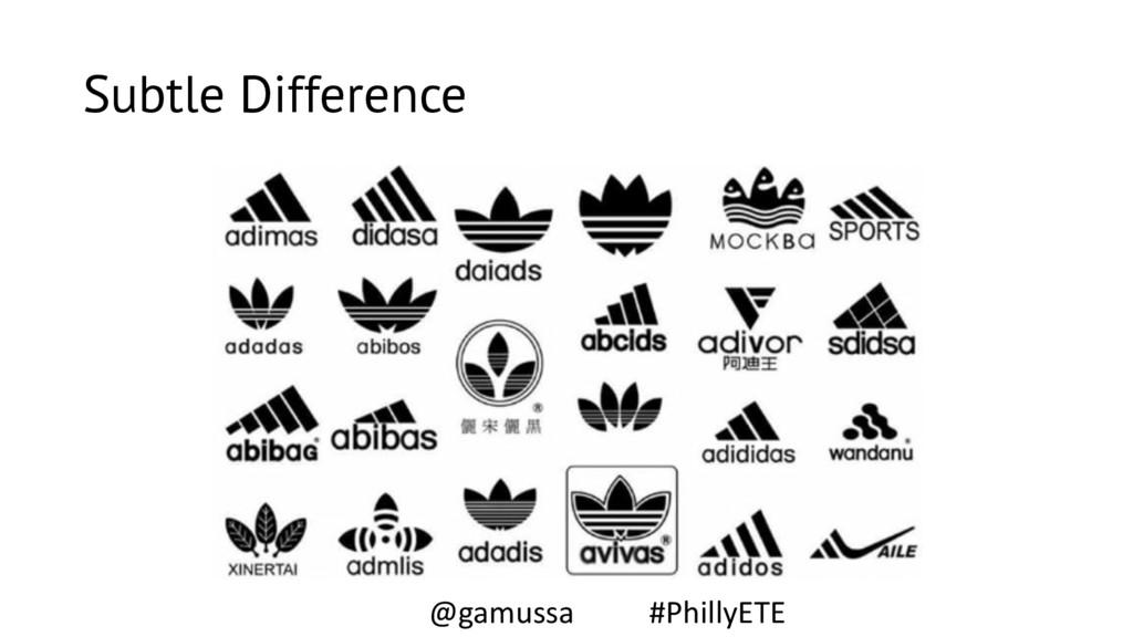 Subtle Difference @gamussa #PhillyETE