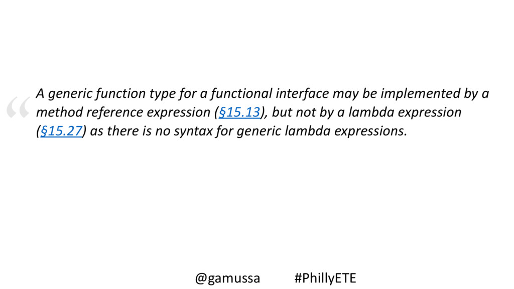 A generic function type for a functional interf...