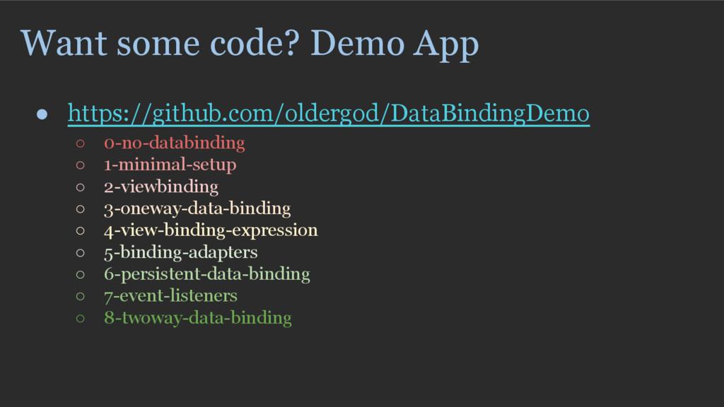 Want some code? Demo App ● https://github.com/o...