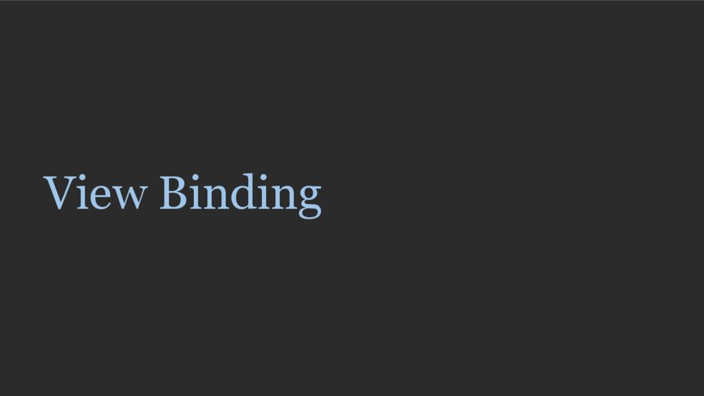 View Binding