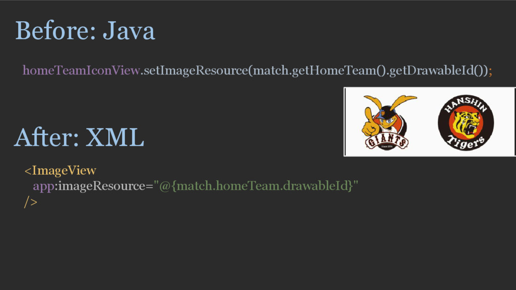 Before: Java homeTeamIconView.setImageResource(...