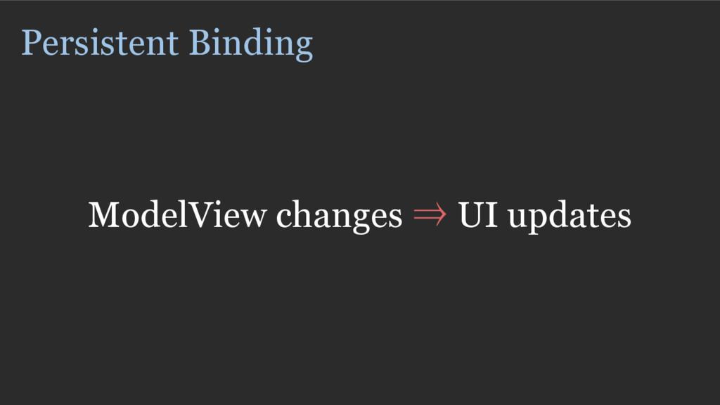Persistent Binding ModelView changes ⇒ UI updat...