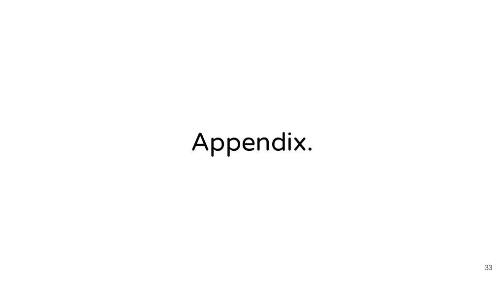Appendix. 33
