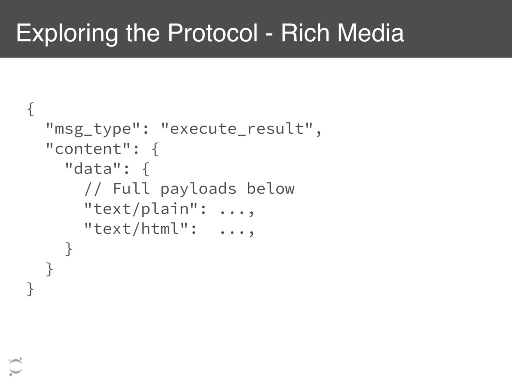 """Exploring the Protocol - Rich Media { """"msg_type..."""