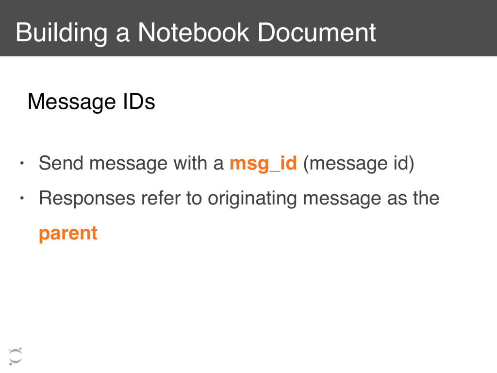 Building a Notebook Document • Send message wit...