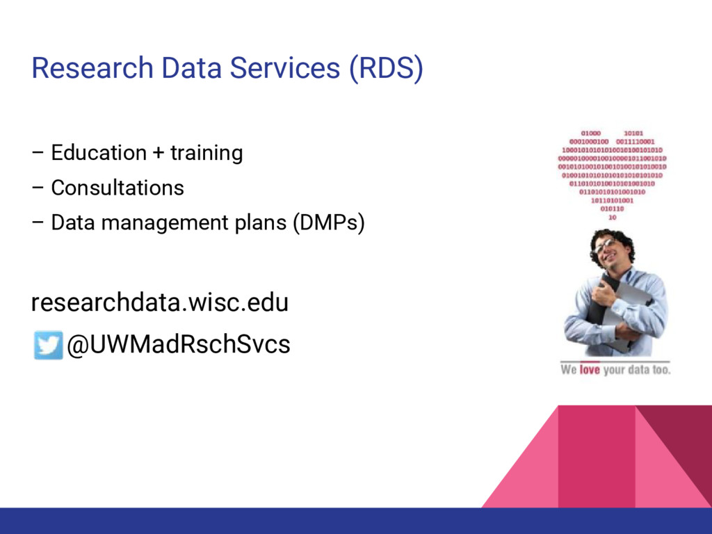 Research Data Services (RDS) – Education + trai...