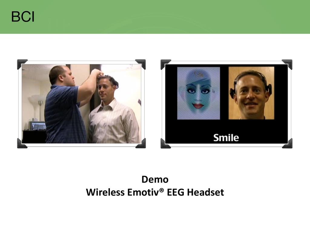 Demo Wireless Emotiv® EEG Headset BCI