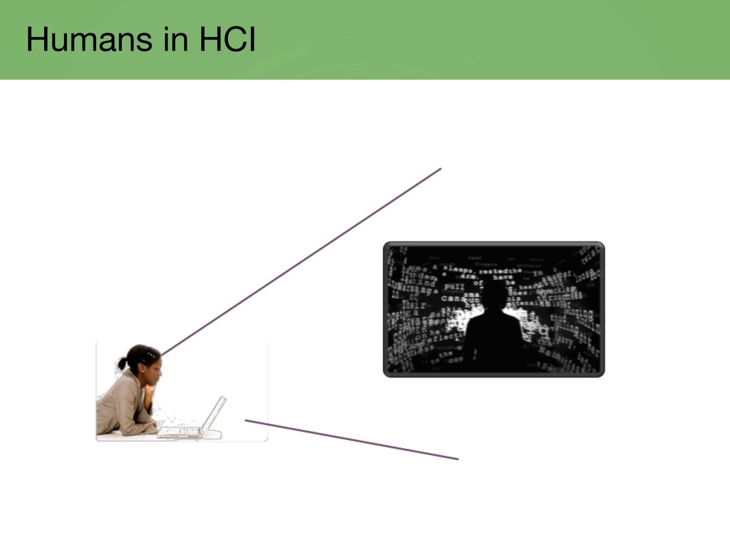 Humans in HCI
