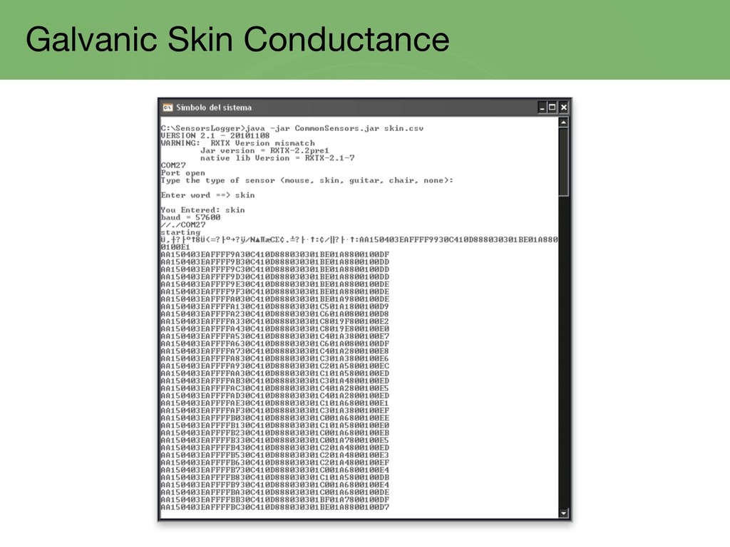 Galvanic Skin Conductance