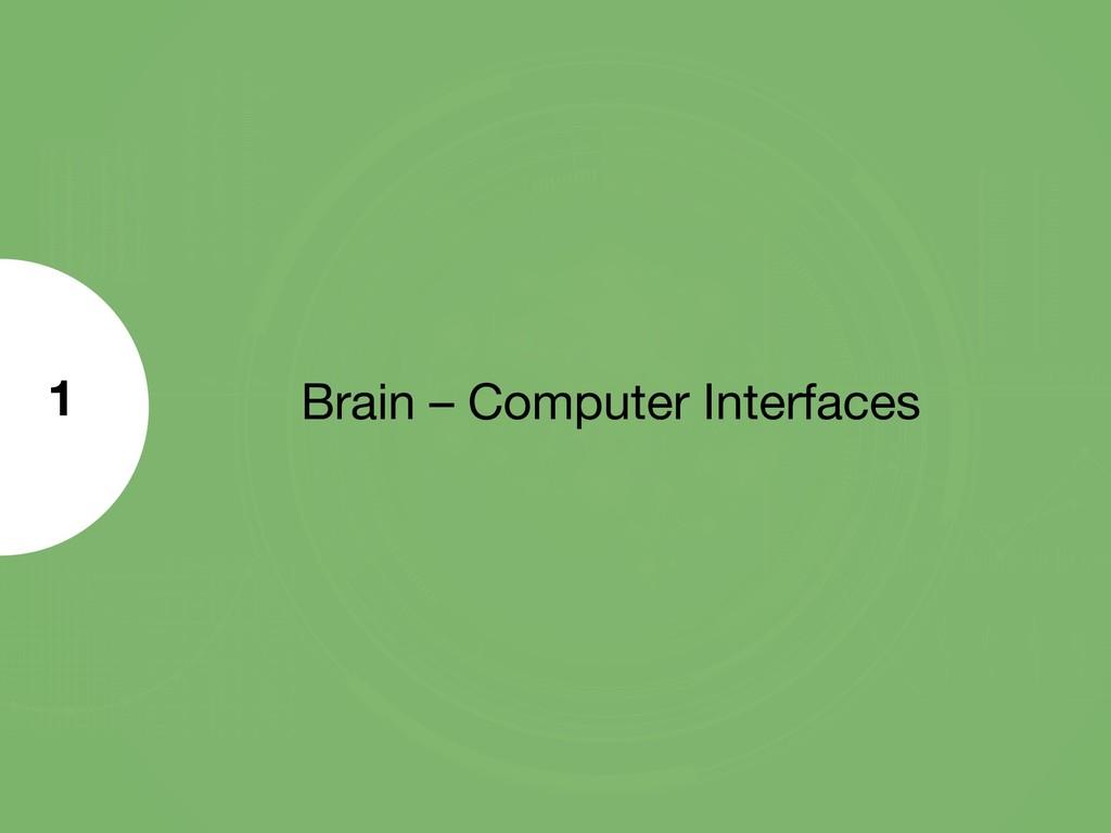 Brain – Computer Interfaces 1