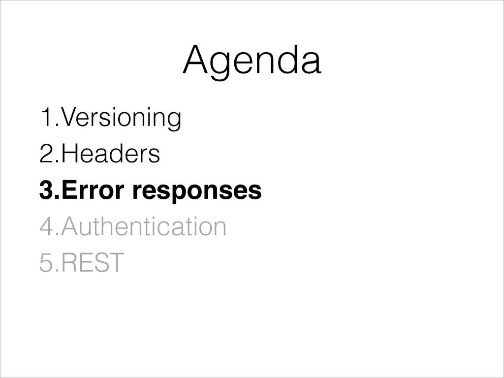 1.Versioning 2.Headers 3.Error responses! 4.Aut...