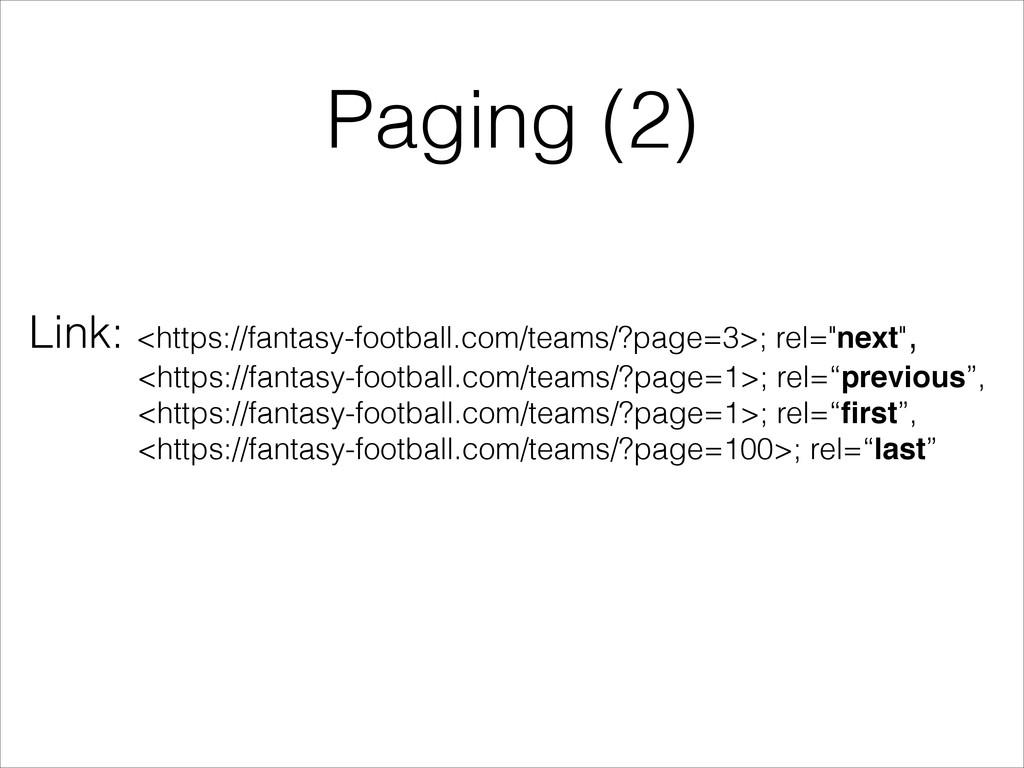 Paging (2) Link: <https://fantasy-football.com/...