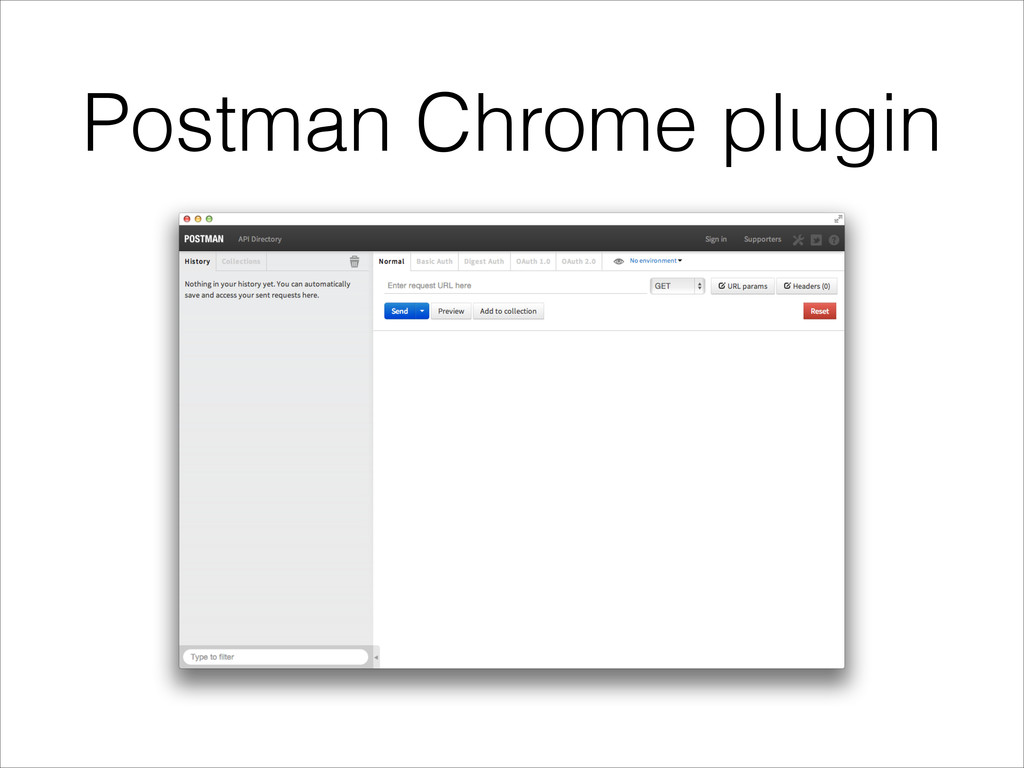 Postman Chrome plugin