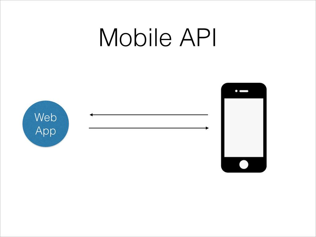 Web App Mobile API