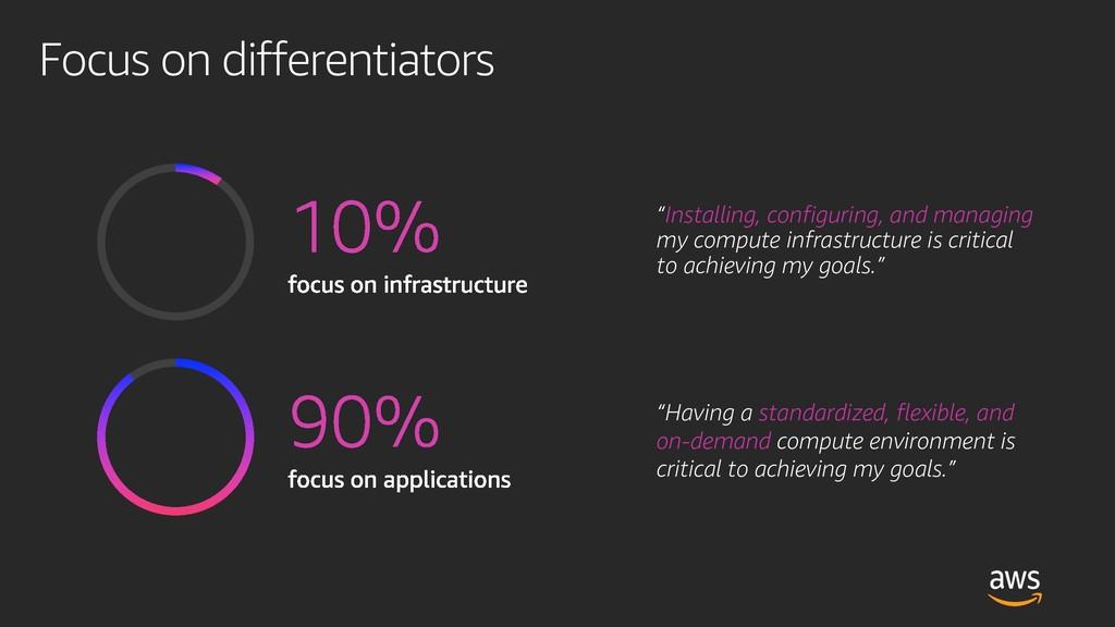 """Focus on differentiators """"Installing, configuri..."""