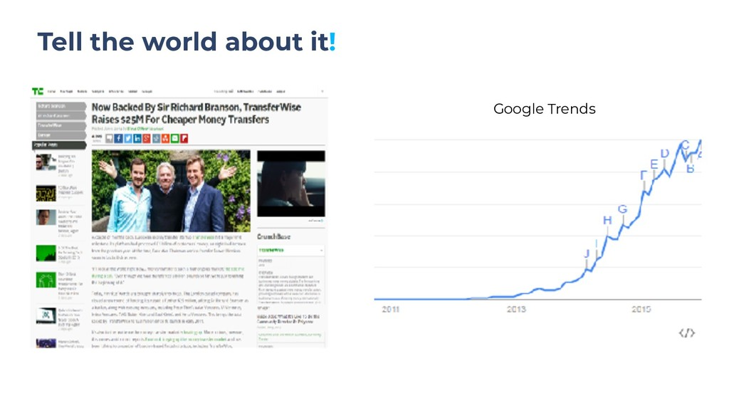 Tell the world about it! Google Trends
