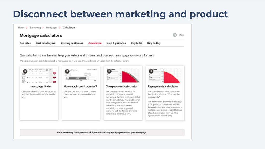 Disconnect between marketing and product