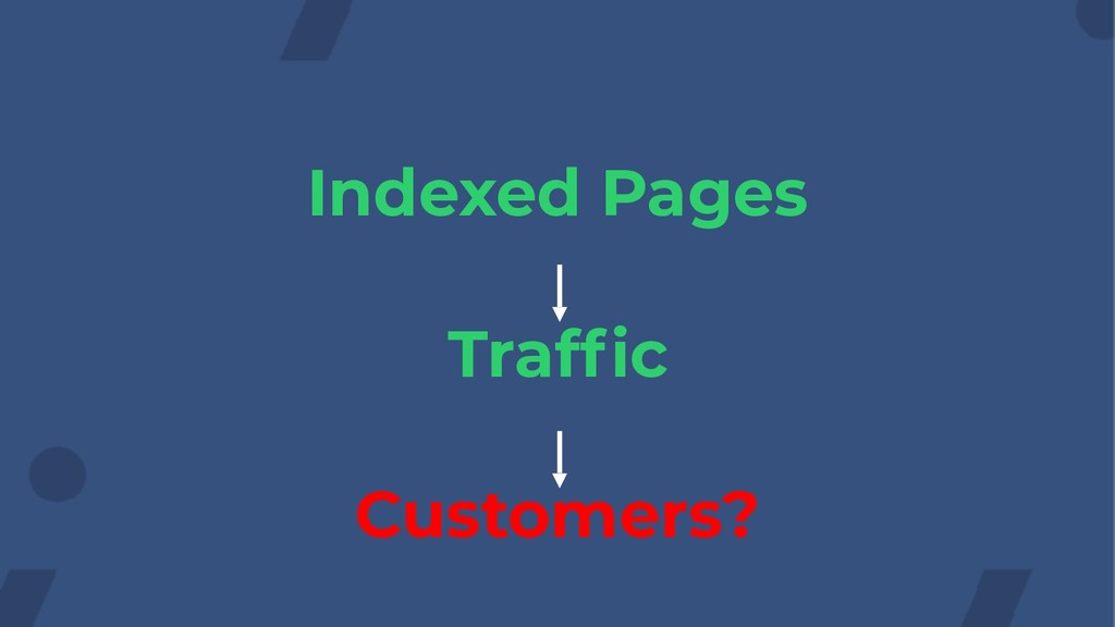 Indexed Pages Traffic Customers?